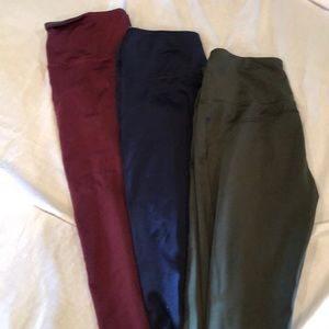 Lot of 3 Women's medium 8/10 athletic leggings